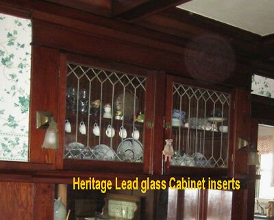 Genuine Leaded Glass Heritage Cabinet Inserts
