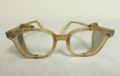 c2288d8c1d1c VINTAGE 1950s - 1960s American Optical Wire Shields SAFETY GLASSES  Protective
