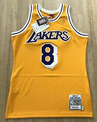 4896e6baf New Mitchell Ness Kobe Bryant Authentic 1996-97 Lakers Gold Jersey Sz 40 M  Nwt