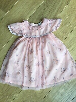 Next Baby Girl Pink Tulle Floral Pretty Party Dress 18-24 Months 🎀 Perfect Cond