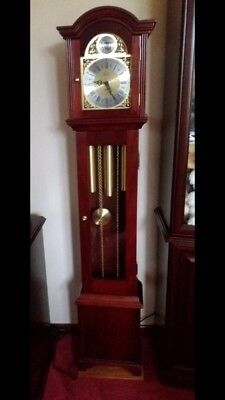 Granddaughter clock FenClock Suffolk mahogany and brass Clock