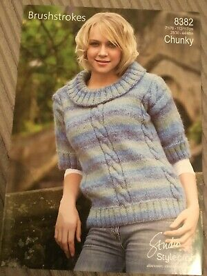 """0181544929dc Stylecraft Chunky Knitting Pattern For A Ladies Jumper 28""""-46"""" (2265)"""