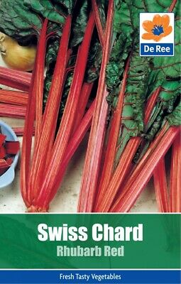 Veg Seeds Swiss Chard Rhubarb Red (30 Seeds) DeRee