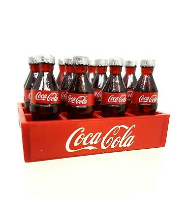 Coles Little Shop Mini Collectables - Coke bottles & crate
