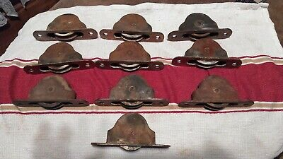 10  Antique Vintage Cast Iron Window Weight Pulleys Sash Pulley Wheels