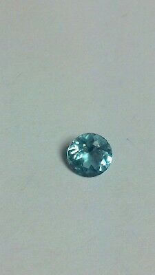 1.1 Ct Beautiful Blue Apatite Madagascar Round Cut Gemstone
