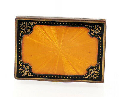 Austrian Art Nouveau cigarette box, guilloche and enamel by Lenk ca 1910 [11696]