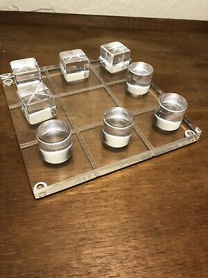 Lucite Tic Tac Toe Mid Century Modern Vintage Game Contemporary