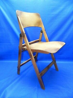 Rare Vintage Wood Folding Chair RARE Early 1900's