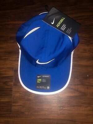 best service 7d2f7 179d9 Nike Featherlight Aerobill Hat Royal Blue White 679421 408 Nadal Federer