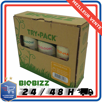 Kit Engrais Try-pack indoor BIOBIZZ Engrais BIO culture plante intérieur 3x250ml