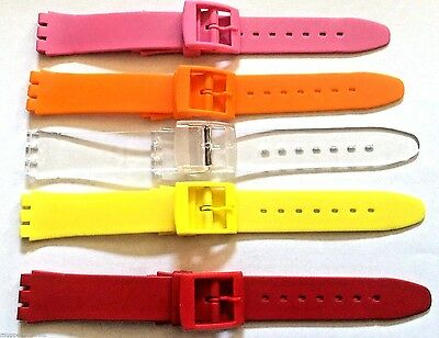 17mm 20mm QUALITY SWATCH REPLACEMENT COMPATIABLE STRAP PLASTIC RESIN WATCH BAND