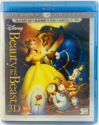 Beauty and the Beast (Blu-ray/DVD, 2011, 5-Disc Set, Diamond Edition) Disney