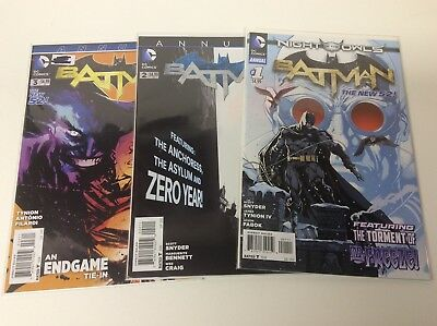 BATMAN ANNUAL #1-3 (DC/2012/VOl2/SNYDER/TYNION/FABOK/011811) COMPLETE SET OF 3