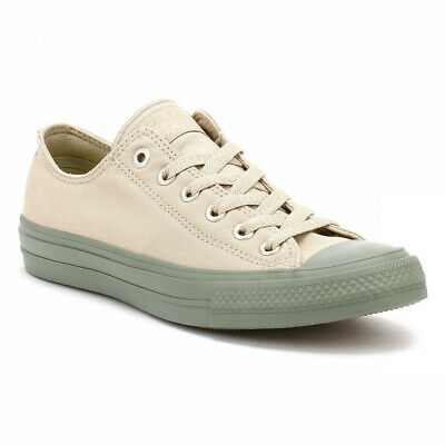 722ff2f7429c7c Converse All Star Chuck Taylor II Mens Ox Trainers Vintage Khaki Canvas  Shoes