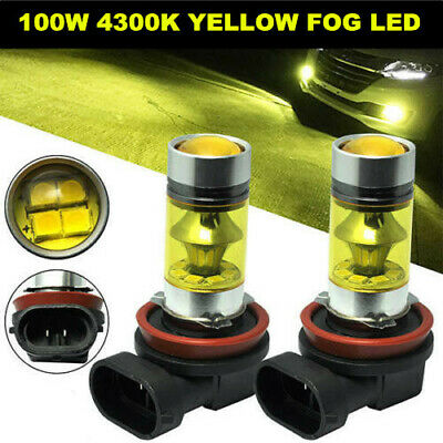 2pcs H8 H11 H16 4300K Yellow High Power Cree 2323 Fog Light LED Driving Bulb DRL