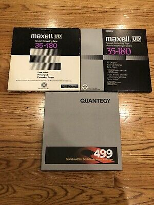 1 NEW Quantegy 499 and 2 Used Maxell UD 10.5 metal reel to reel tapes
