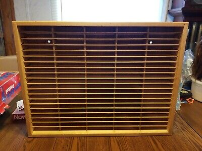 Napa Valley 100 Audio Cassette Tapes Rack Storage Case Wooden Wall Mount Holder