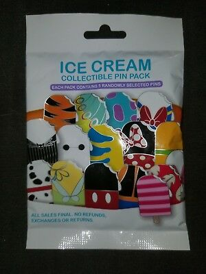 Disney Parks Ice Cream Mystery 5-Pin Pack Pin Trading