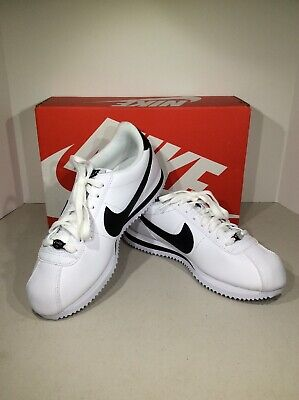 buy popular c80e7 5a70f Nike Cortez Basic Leather Men s Size 8 White Black Casual Shoes X18-899