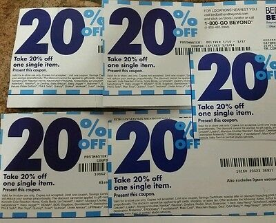 BED BATH AND BEYOND COUPONS x5 20% Off expired