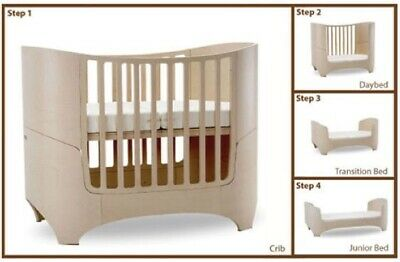 Leander 5 in 1 Convertible Cot / Junior Bed in Birch with Mattress