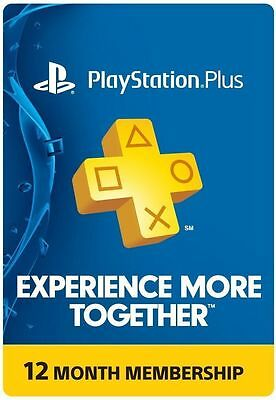PlayStation Plus Membership Card - Subscription 12 Month - PSN Ps3 Ps4
