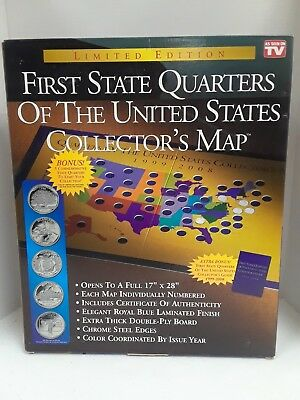New! First State Quarters Of The United States Collector's Map 1999–2008
