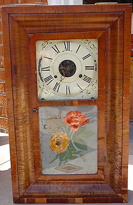 Seth Thomas Bengal Rose Ogee Chiming Clock Plymouth Hollow 30 hour movement