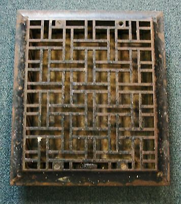 "Antique Tuttle & Bailey 1888 Patent Cast Iron Heat Register Vent 10"" X 12""  #1"