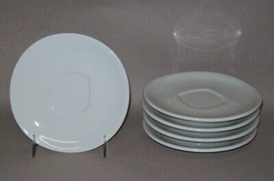 """Serving Ware 5 ACF LATTE SAUCERS WITH SQUARE INSET 5.5"""""""
