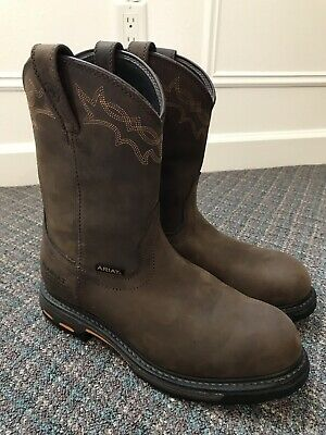 05f472cacee ARIAT 10001200 EH Pull-On Composite Toe Workhog Boots, size 10 wide