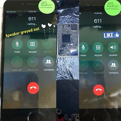 iPhone 7/ iPhone 7 Plus Audio IC No Mic/Speaker Greyed Out Repair Service