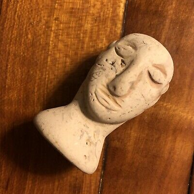 Ancient Style Bactrian Head Figure Stone God Idol Jewelry Artifact Authentic Old