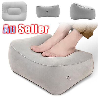 Flight Portable Inflatable Foot Travel Plane Footrest Pillow Rest Pad MN Train