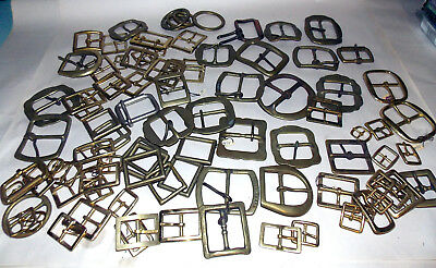 94pc Vintage SOLID BRASS Belt Buckles Lot WHOLESALE 9.5lbs Various Sized