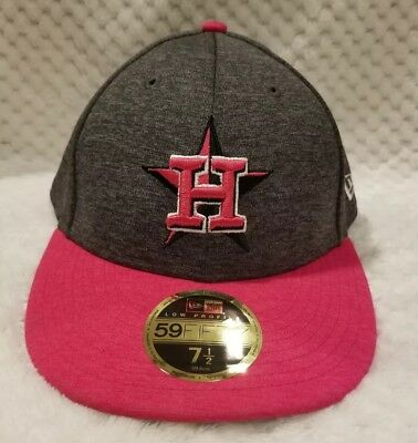 9802a976208ff0 Houston Astros 7 1/2 Mother's Day Hat Cap Pink Fitted New Era Low Profile