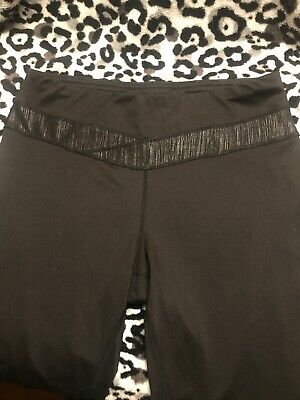 2ad6e90e85 ASPIRE Yoga Pants Womens Sz M Athletic Stretchy Exercise Running Wear  W/Zippers