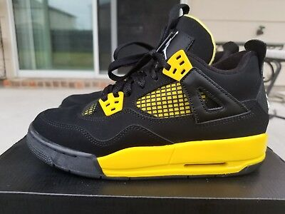 Nike Iv Air Retro Size Black 4 Yellow 4y Jordan Thunder 80NPkXZnwO