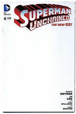 DC Superman Unchained #6 BLANK Sketch Cover Variant - Jim Lee & Scott Snyder!