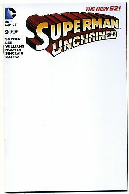 DC Superman Unchained #9 BLANK Sketch Cover Variant - Jim Lee & Scott Snyder!