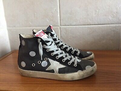 Golden Goose Francy Metallic Leather Star High-top Sneakers With Fursize 38 8 Clothing, Shoes & Accessories Athletic Shoes