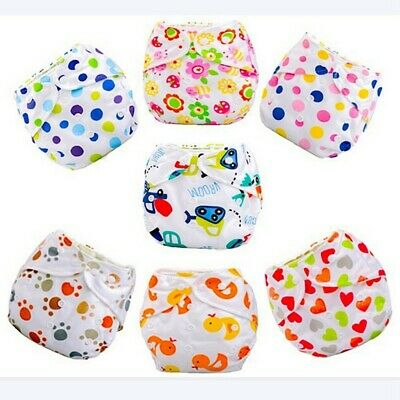 Cute Infant Kids Cover Washable Cloth Diapers Adjustable Reusable Baby Nappy