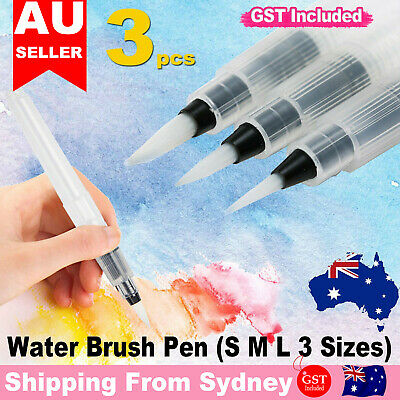 3 Pcs Water Brush Pen Art Paint Brush for watercolor Watercolour Brush Set DIY