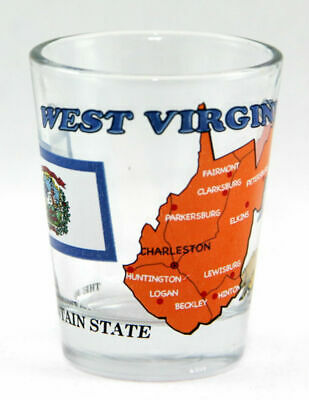 West Virginia The Mountain State All-American Collection Shot Glass Shotglass