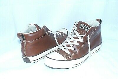 49818d8bb23a Converse Chuck Taylor All Star Mens Sz 8 Brown Leather High-Top Sneakers  Shoes