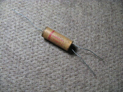 1 NOS Vintage 2 x .015 MFD Cornell Dublier Wax - Paper Capacitor - Outside Foil