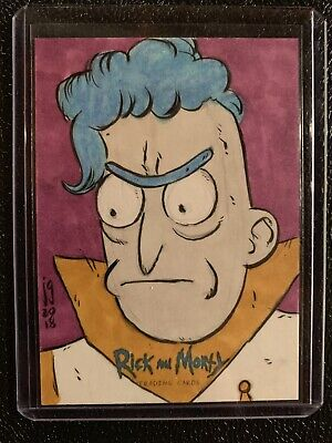 2018 Cryptozoic Rick And Morty Season One Sketch Card  by Josh Ginter