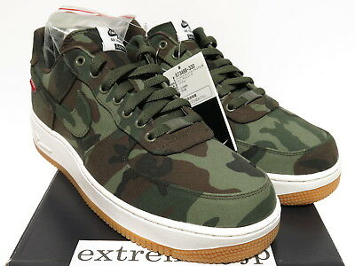 3857289b5eae1 DS NIKE x SUPREME AIR FORCE 1 LOW PREMIUM 08 NRG Green Camo 573488-330