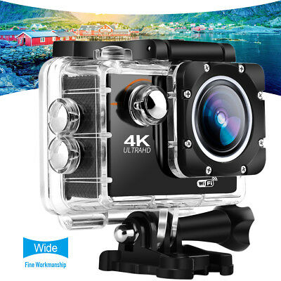 4K WIFI Sports Action Camera Ultra HD Waterproof DV Cam corder 16MP Go US Pro&BK